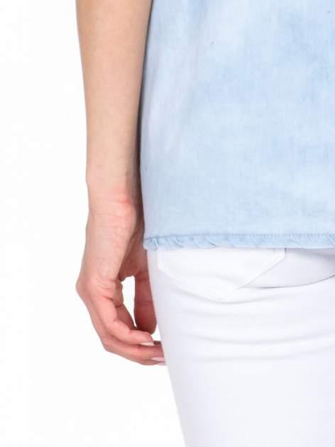 Jeansowa bluzka koszulowa z haftem                                  zdj.                                  6