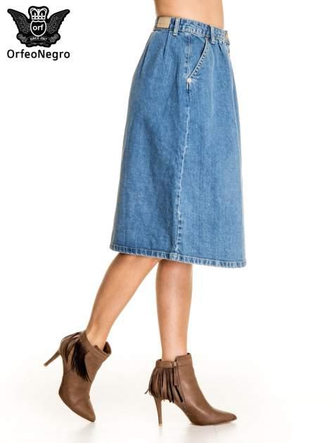Jeansowa spódnica z guzikami w stylu vintage                                  zdj.                                  4
