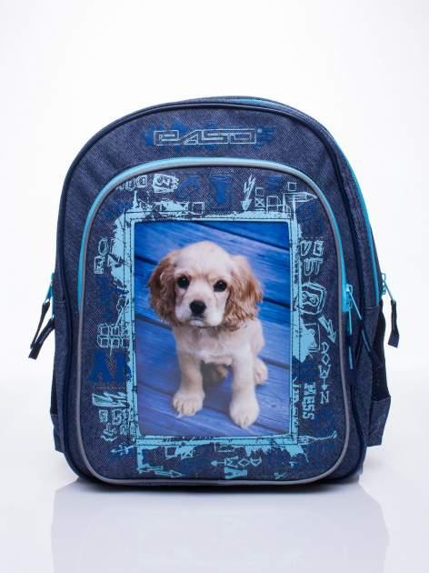 Jeansowy plecak szkolny DISNEY z pieskiem                                  zdj.                                  1