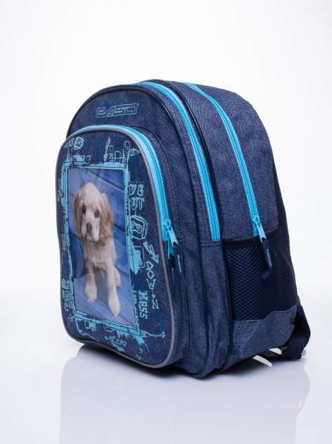 Jeansowy plecak szkolny DISNEY z pieskiem                                  zdj.                                  2