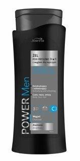 Joanna POWER MEN Żel pod prysznic/szampon 3w1 dla mężczyzn z węglem 400ml                              zdj.                              1