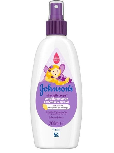 Johnson's Baby Strenght Drops Odżywka wzmacniająca w spray'u do włosów dla dzieci 200 ml