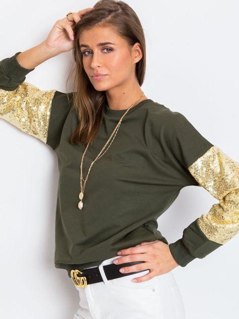 Khaki bluza Mirror                              zdj.                              3