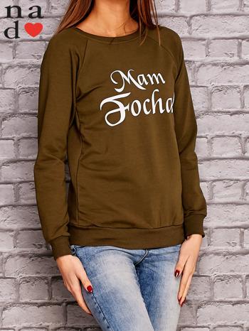 Khaki bluza z napisem MAM FOCHA                                  zdj.                                  3