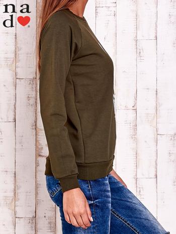 Khaki bluza z piórkiem                                  zdj.                                  4