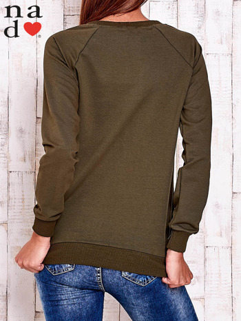 Khaki bluza z wzorem serca                                  zdj.                                  5