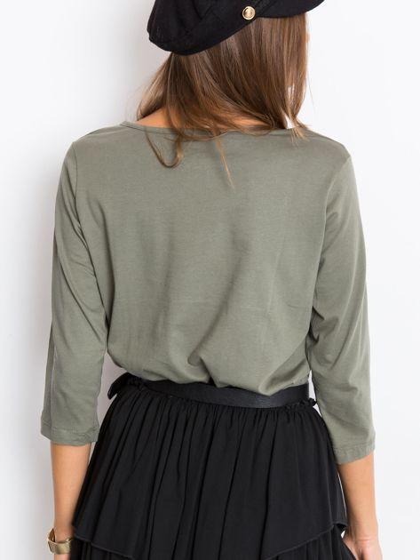 Khaki bluzka Purr                              zdj.                              2