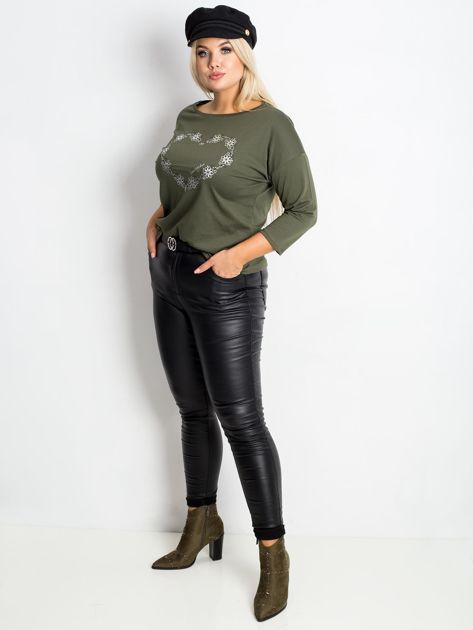 Khaki bluzka plus size Feelings                              zdj.                              5