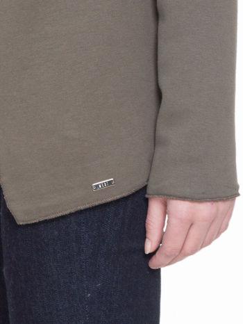 Khaki bluzonarzutka z klapami o kroju waterfall                                  zdj.                                  7