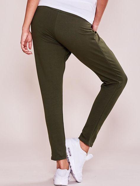 Khaki damskie spodnie dresowe moro                              zdj.                              2
