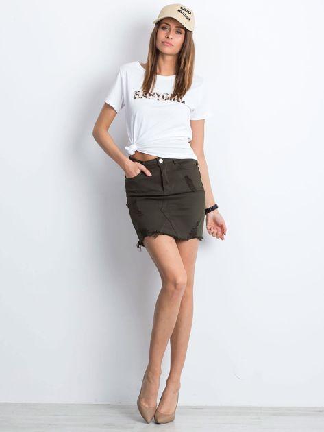 Khaki spódnica Along                              zdj.                              4