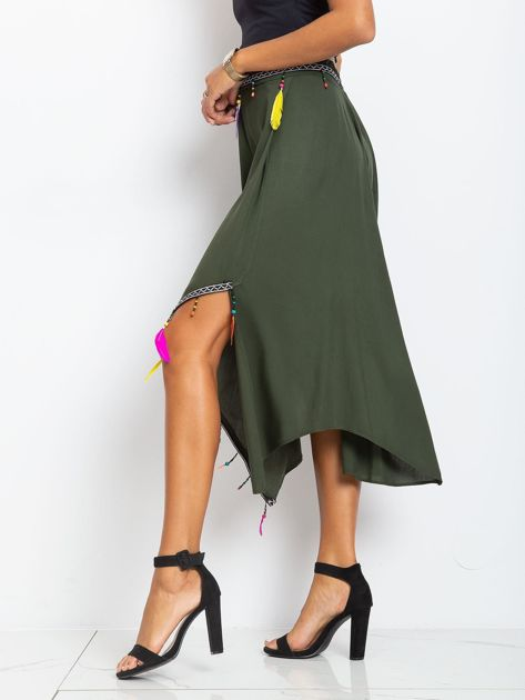 Khaki spódnica Amazon                              zdj.                              3