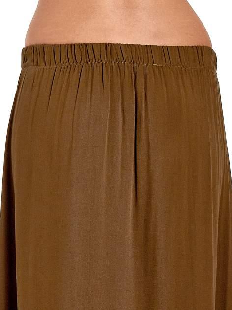 Khaki spódnica maxi z rozporkami z przodu                                  zdj.                                  7