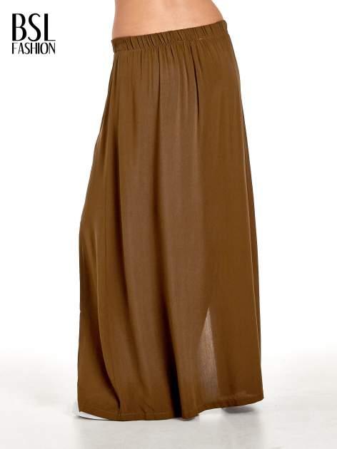 Khaki spódnica maxi z rozporkami z przodu                              zdj.                              4