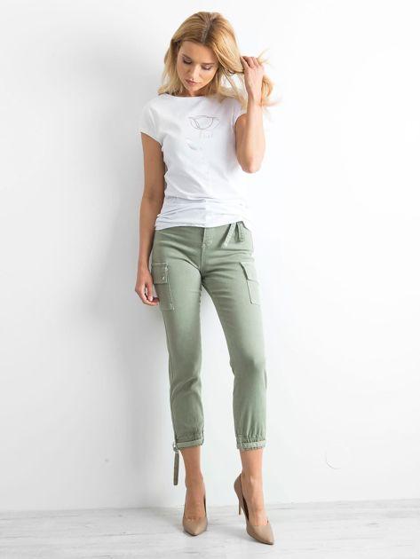 Khaki spodnie Vintage                              zdj.                              4