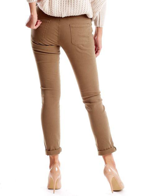 Khaki spodnie damskie o prostym kroju                              zdj.                              2
