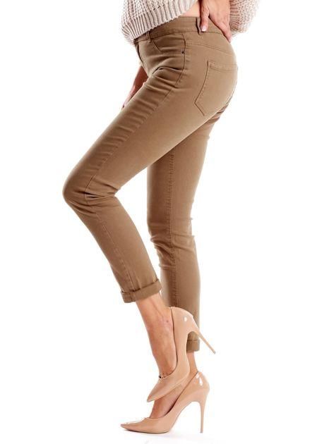 Khaki spodnie damskie o prostym kroju                              zdj.                              7