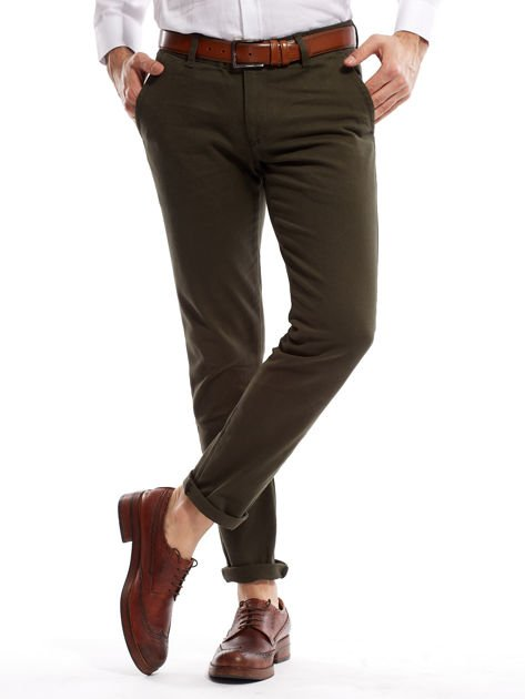 Khaki spodnie męskie chinos                                  zdj.                                  7