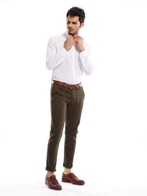 Khaki spodnie męskie chinos                              zdj.                              11