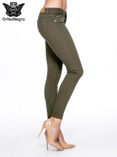 Khaki spodnie typu skinny z elastycznego materiału                                  zdj.                                  3