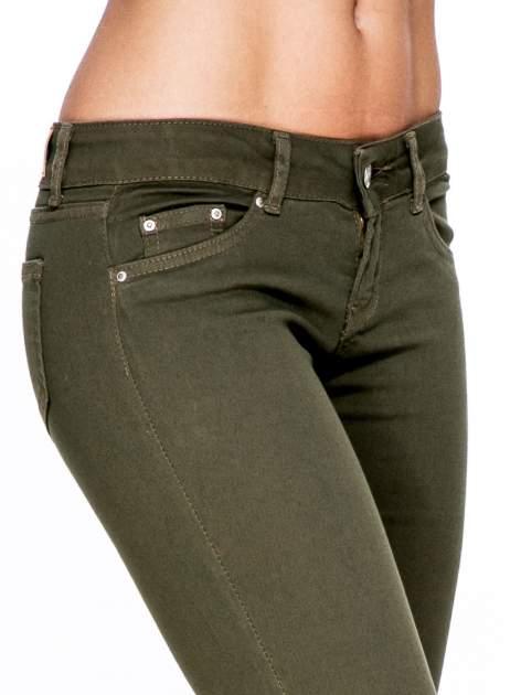 Khaki spodnie typu skinny z elastycznego materiału                                  zdj.                                  6