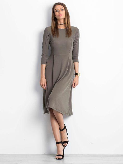 Khaki sukienka Everywhere                              zdj.                              4