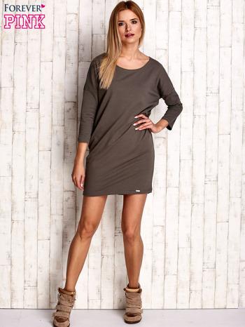 Khaki sukienka oversize                              zdj.                              2