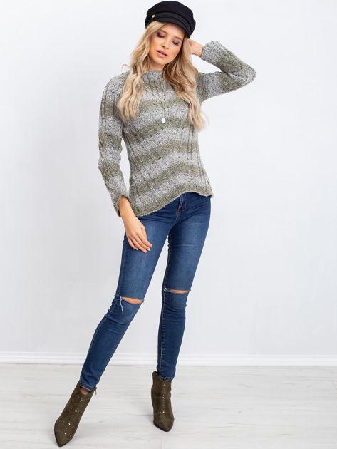 Khaki sweter Fantasy                              zdj.                              4