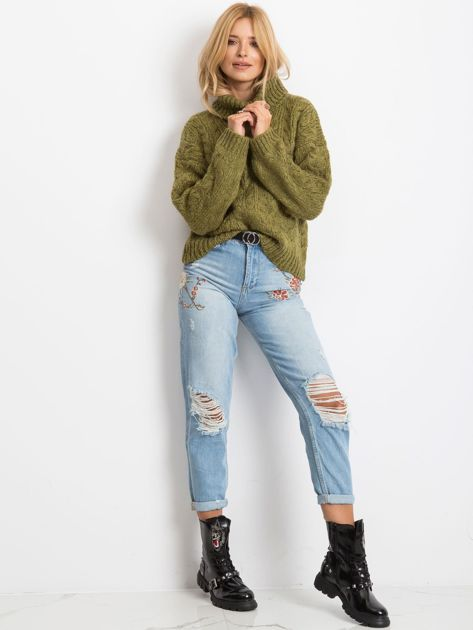 Khaki sweter Heavenly                              zdj.                              4