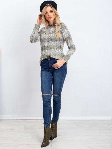 Khaki sweter Tracey                              zdj.                              4