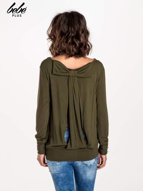 Khaki sweter z kokardą na plecach                                  zdj.                                  3