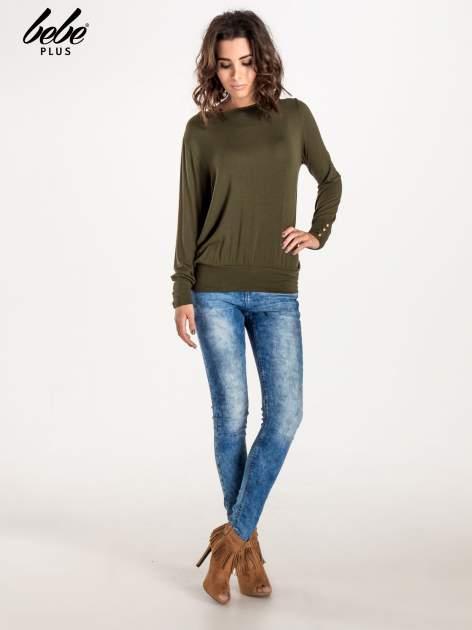 Khaki sweter z kokardą na plecach                                  zdj.                                  4
