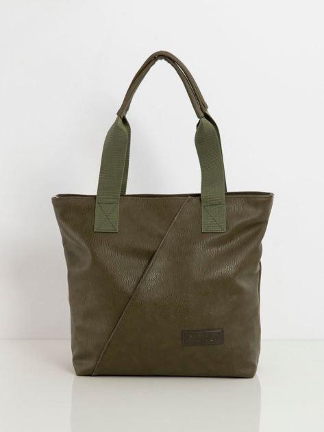 Khaki torba z ekoskóry
