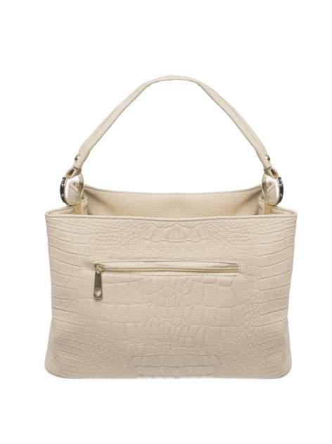 Khaki torebka na ramię tłoczona na wzór skóry krokodyla                                  zdj.                                  2