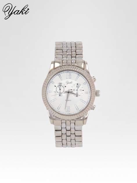 Klasyczny zegarek damski na bransolecie w kolorze srebra