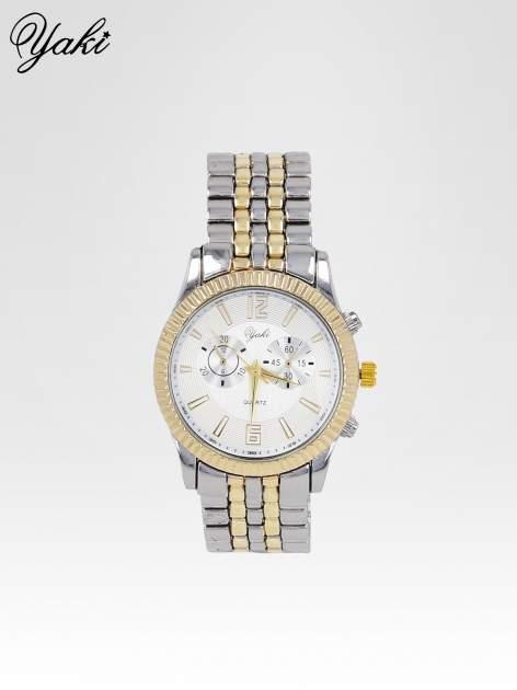 Klasyczny zegarek damski na bransolecie w kolorze srebra i złota
