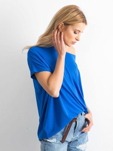 Kobaltowa bluzka Oversize                              zdj.                              3