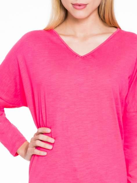 Koralowa bluzka z wiązanym oczkiem z tyłu                                  zdj.                                  5