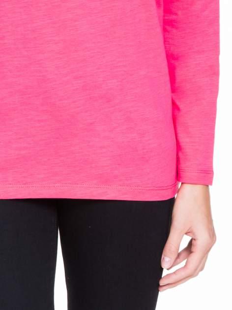 Koralowa bluzka z wiązanym oczkiem z tyłu                                  zdj.                                  6