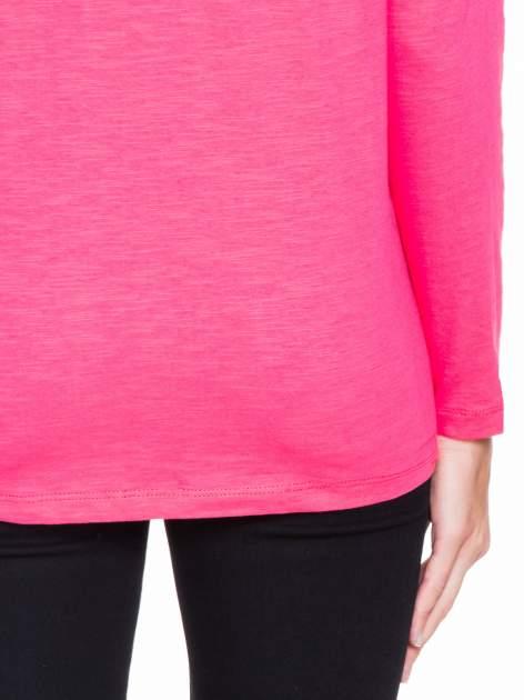 Koralowa bluzka z wiązanym oczkiem z tyłu                                  zdj.                                  8