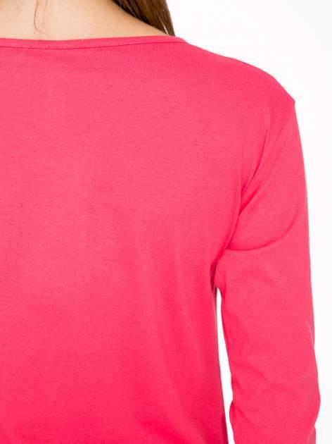 Koralowa bluzka z złotym brokatowym napisem MEMORIES                                  zdj.                                  9