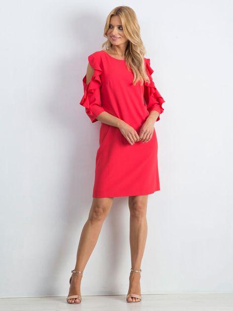 Koralowa sukienka Brilliance                              zdj.                              4
