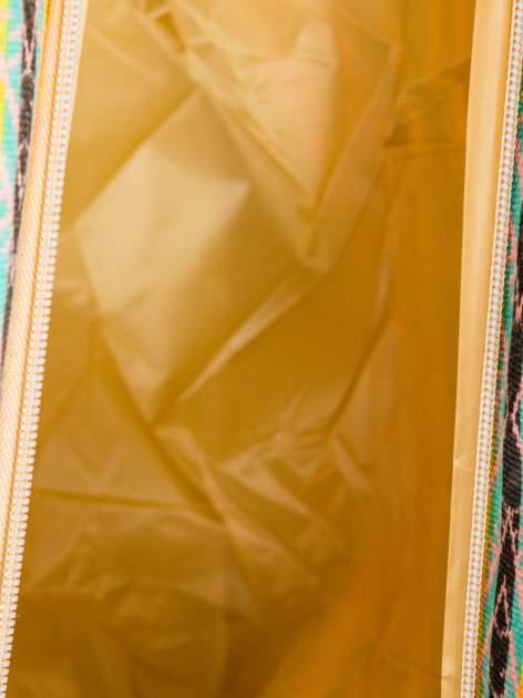 Koralowa torba plażowa w azteckie wzory                                  zdj.                                  10