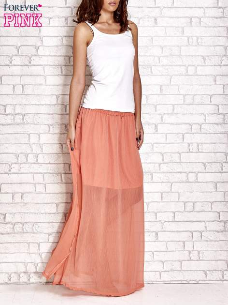 Koralowa transparentna spódnica maxi                                  zdj.                                  6