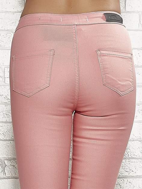 Koralowe spodnie rurki skinny                                  zdj.                                  7
