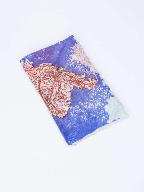 Koralowy komin w wielobarwny wzór paisley                                  zdj.                                  3