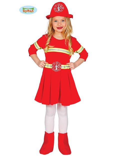 Kostium karnawałowy dla dziewczynki Strażak                               zdj.                              1