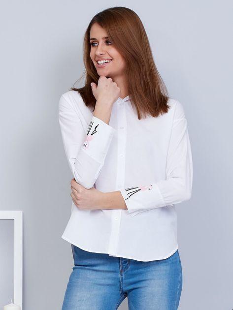Koszula biała z flamingami                                  zdj.                                  1