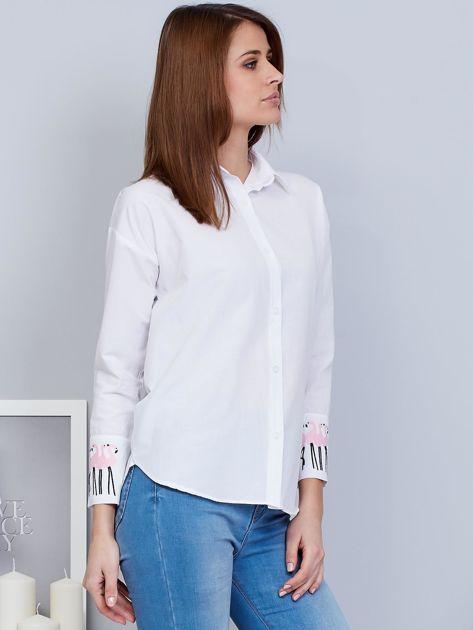 Koszula biała z flamingami                                  zdj.                                  5