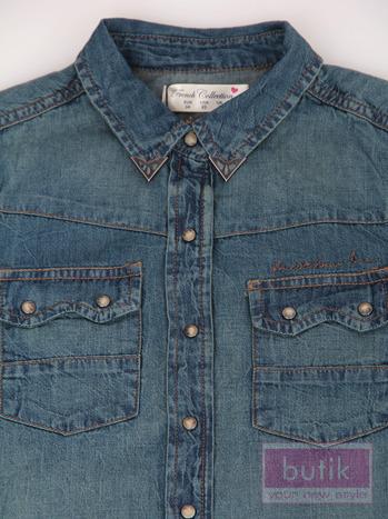 Koszula jeansowa z nakładkami                                   zdj.                                  3